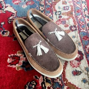 Sperry Top-Sider brown leather boat shoes